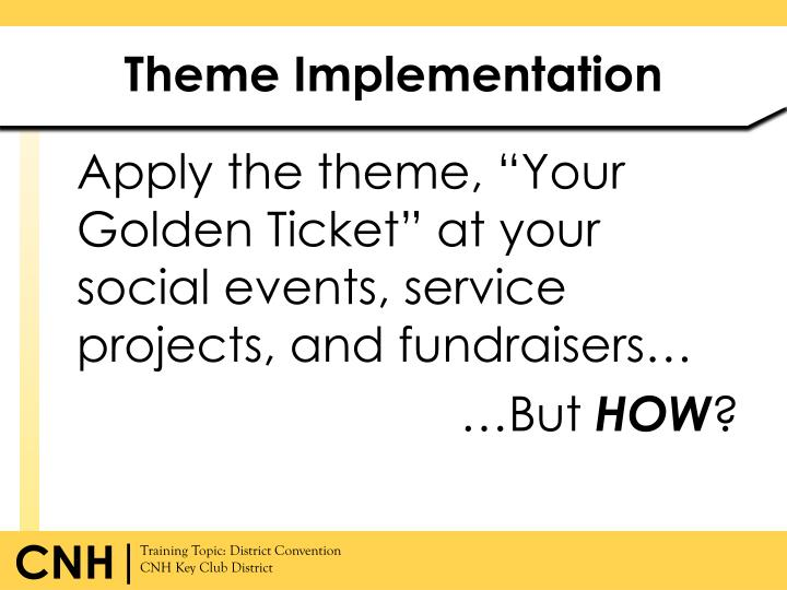 Theme Implementation