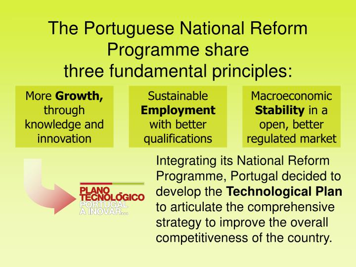 The Portuguese National Reform Programme share