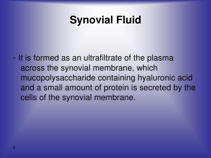 Synovial fluid1