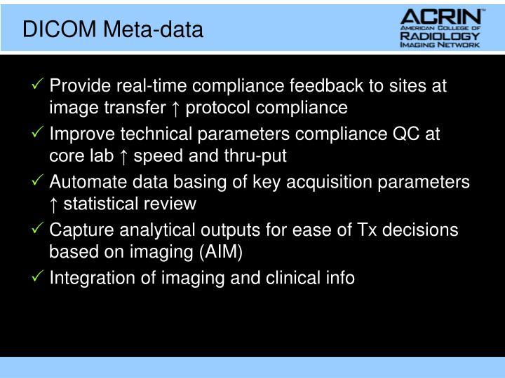 DICOM Meta-data