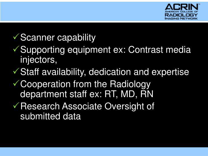 Scanner capability