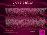 2 7 j miller