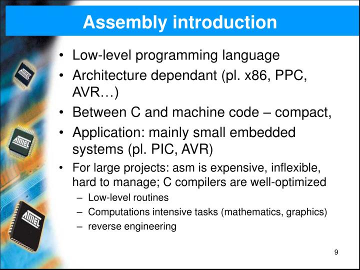 Assembly introduction