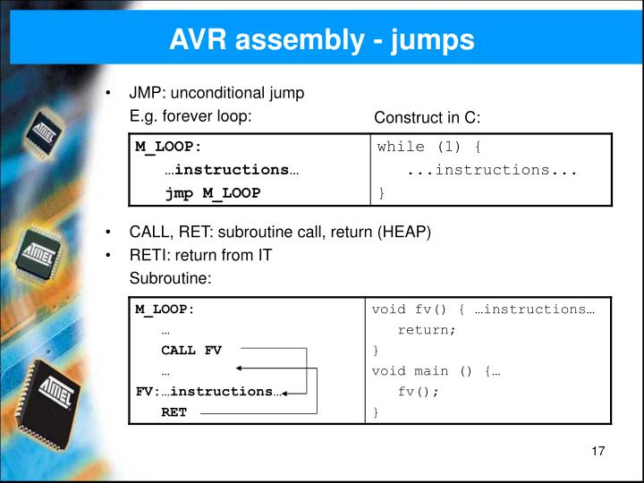 AVR assembly - jumps