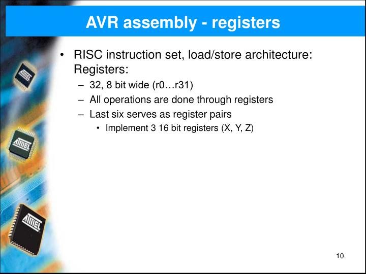 AVR assembly - registers