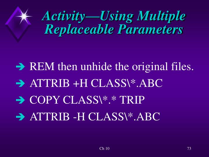 Activity—Using Multiple Replaceable Parameters