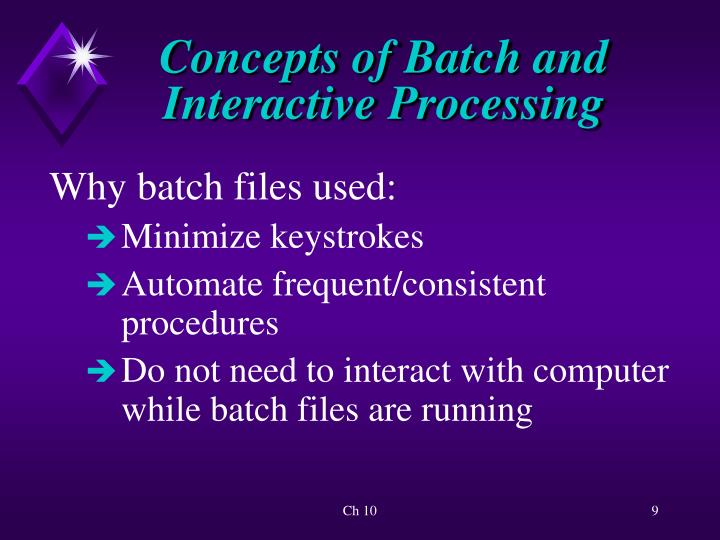 Concepts of Batch and Interactive Processing