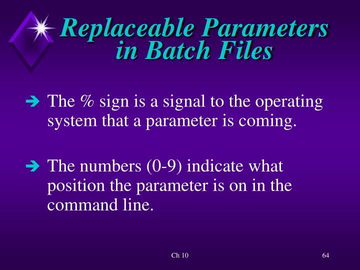 Replaceable Parameters