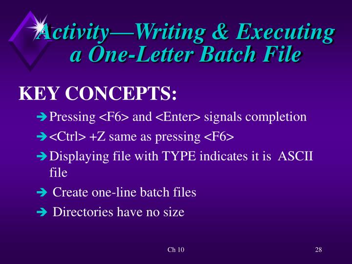 Activity—Writing & Executing