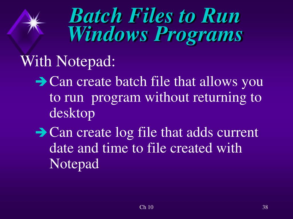 PPT - Introduction to Batch Files PowerPoint Presentation