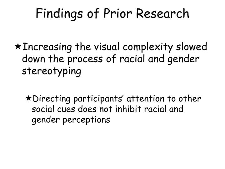 Findings of Prior Research