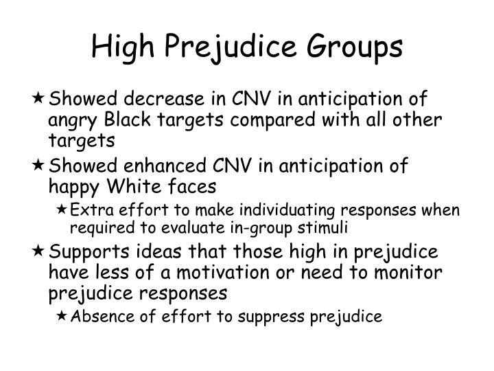 High Prejudice Groups