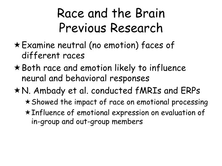 Race and the Brain