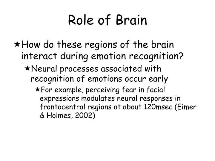 Role of Brain