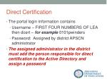 direct certification6