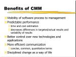 benefits of cmm