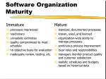 software organization maturity