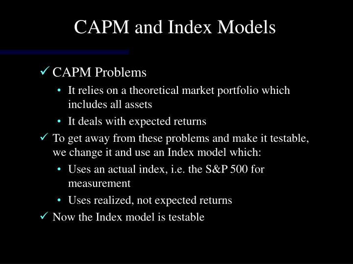 CAPM and Index Models