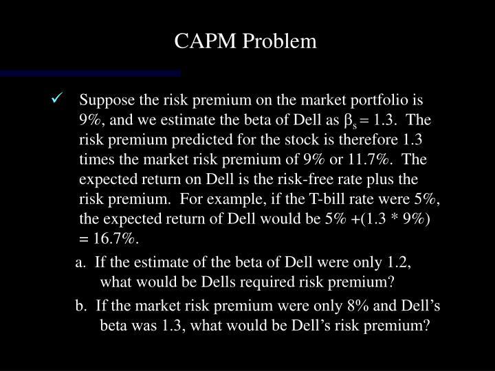 CAPM Problem
