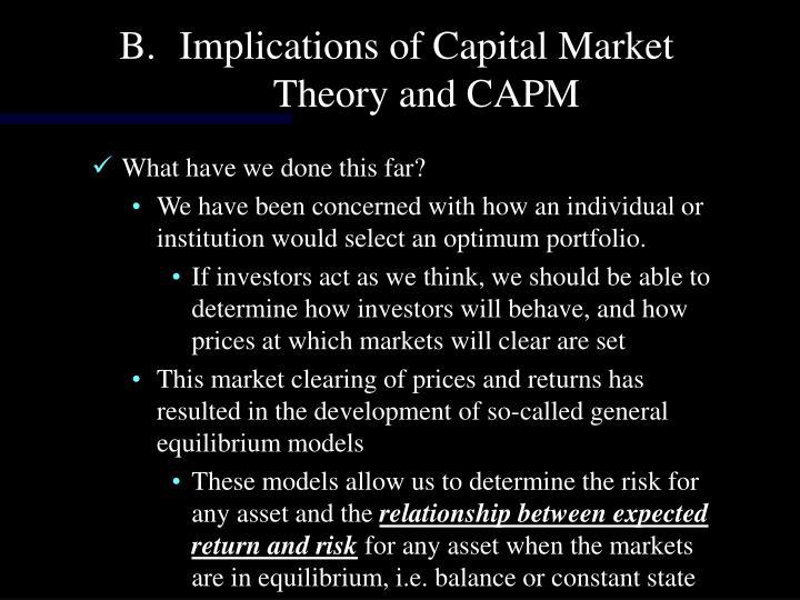 Implications of Capital Market