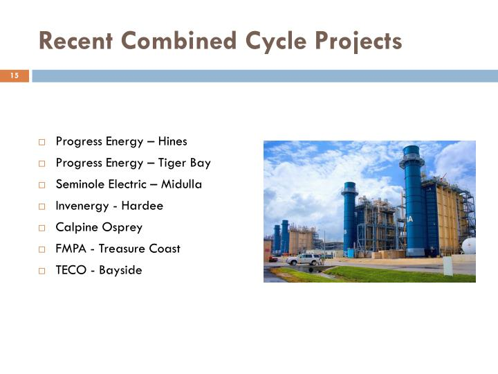 Recent Combined Cycle Projects