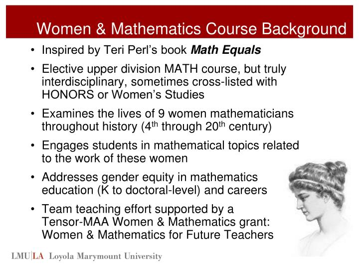 Women & Mathematics Course Background
