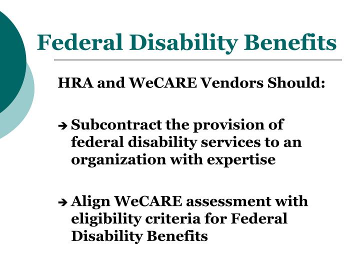 Federal Disability Benefits