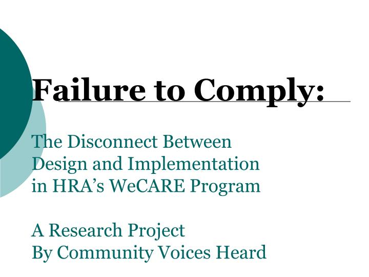 Failure to Comply: