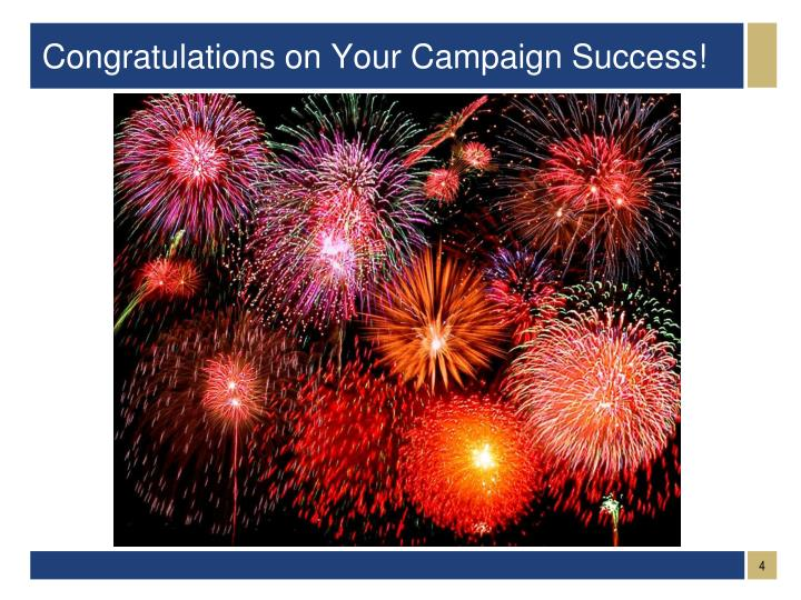 Congratulations on Your Campaign Success!