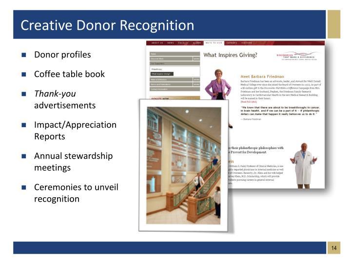 Donor profiles
