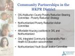 community partnerships in the hkpr district