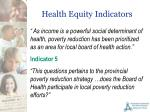 health equity indicators