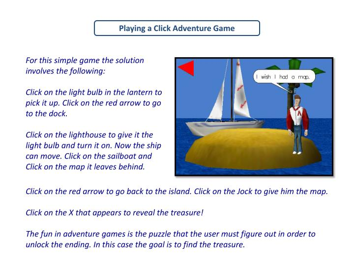 Playing a Click Adventure Game