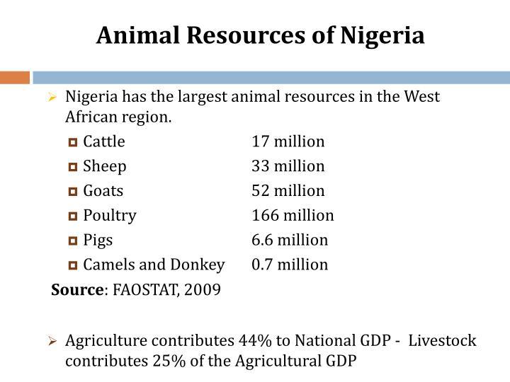 Animal Resources of Nigeria