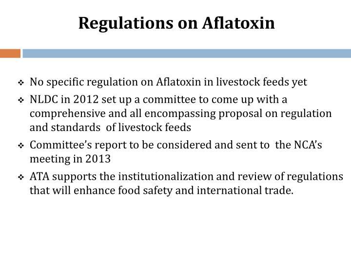 Regulations on Aflatoxin