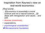 inspiration from keynes s view on real world economics