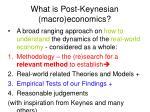 what is post keynesian macro economics