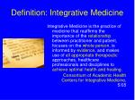 definition integrative medicine