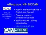 eresource nih nccam