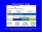 prevention gap