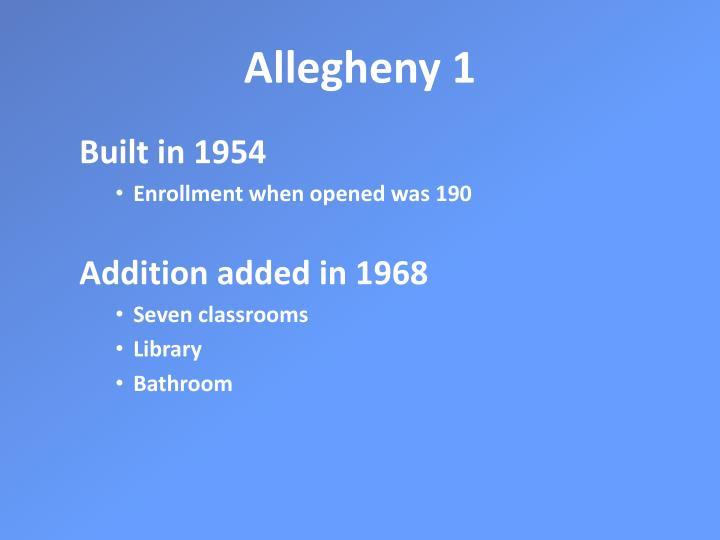 Allegheny 1