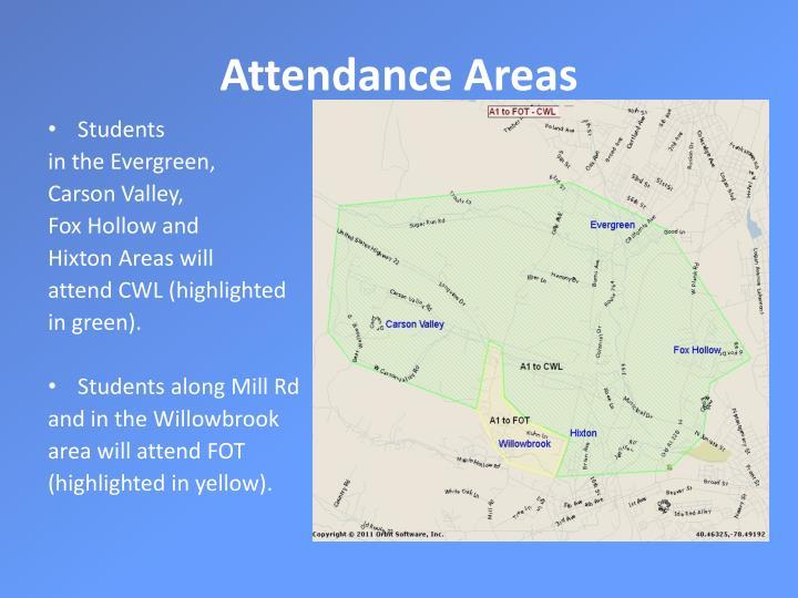 Attendance Areas