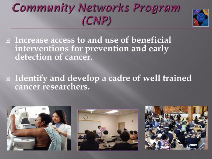 Community networks program cnp