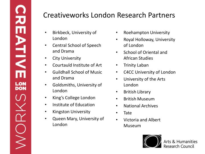 Creativeworks London Research Partners