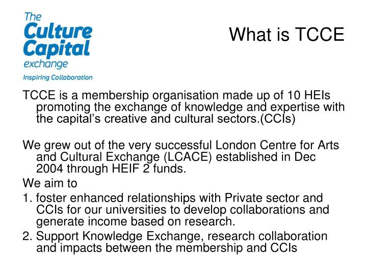 What is tcce
