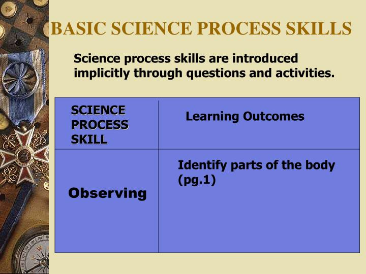 SCIENCE PROCESS SKILL