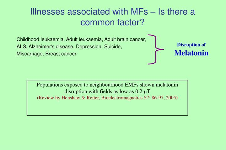 Illnesses associated with MFs – Is there a common factor?