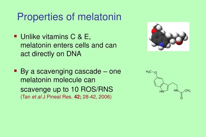 Properties of melatonin