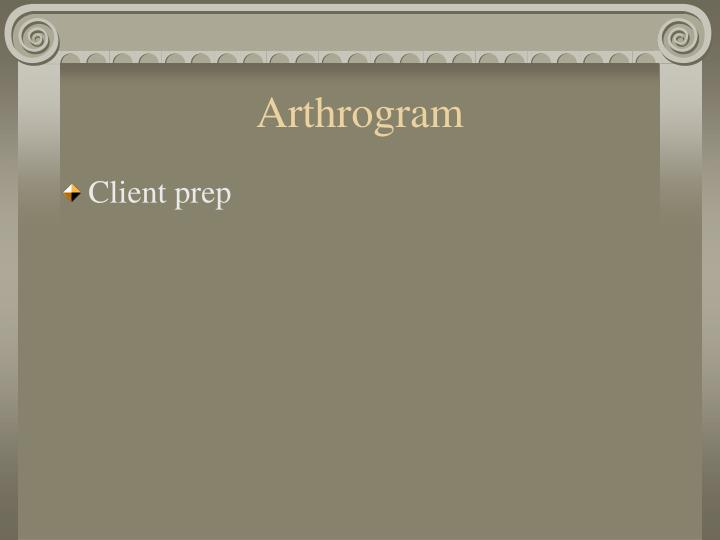 Arthrogram