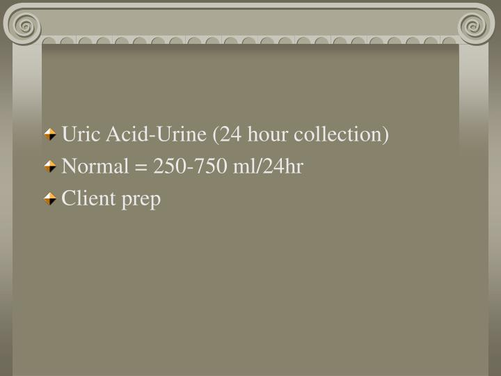 Uric Acid-Urine (24 hour collection)